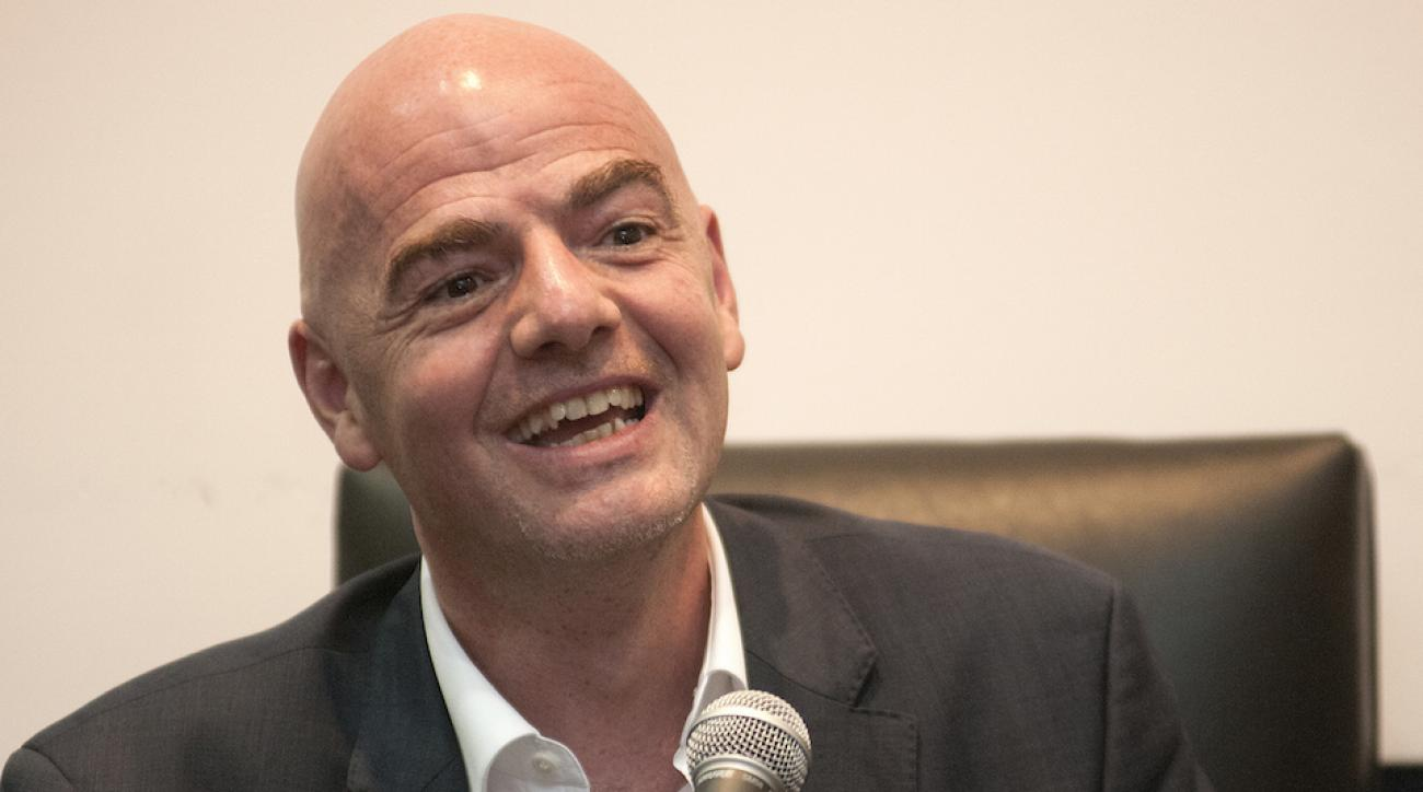 gianni infantino fifa champions league bar