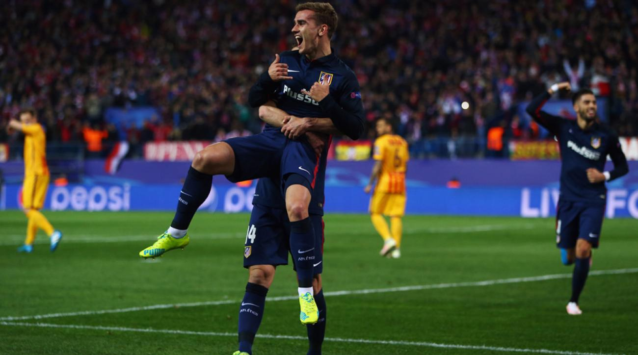 Antoine Griezmann was the hero for Atletico Madrid against Barcelona in the Champions League