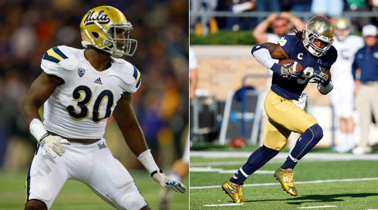 UCLA's Myles Jack and Notre Dame's Jaylon Smith