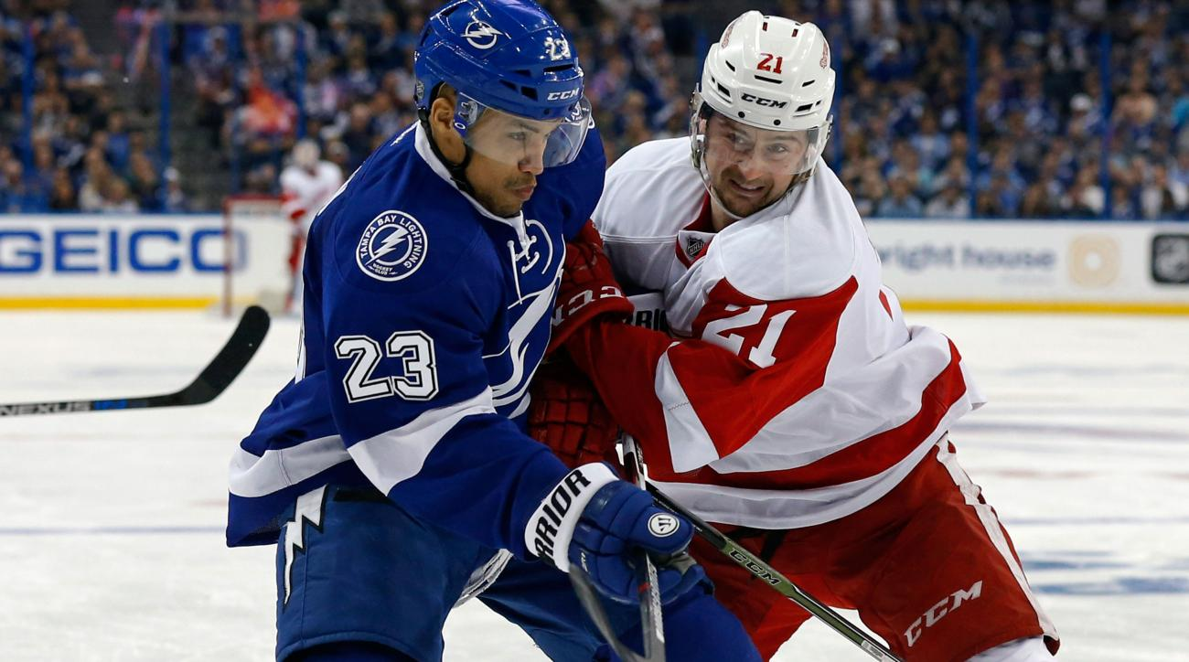 jt brown lightning injury red wings