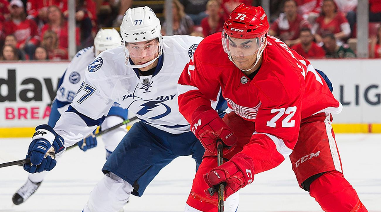 Stanley Cup Playoffs: Red Wings shut out Lightning in Game 3