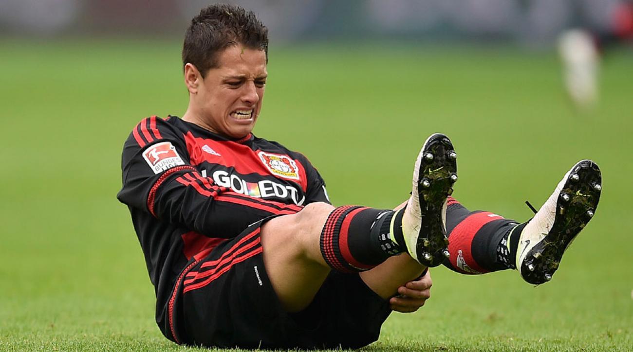 """Bayer Leverkusen's Javier """"Chicharito"""" Hernandez has avoided a serious injury"""