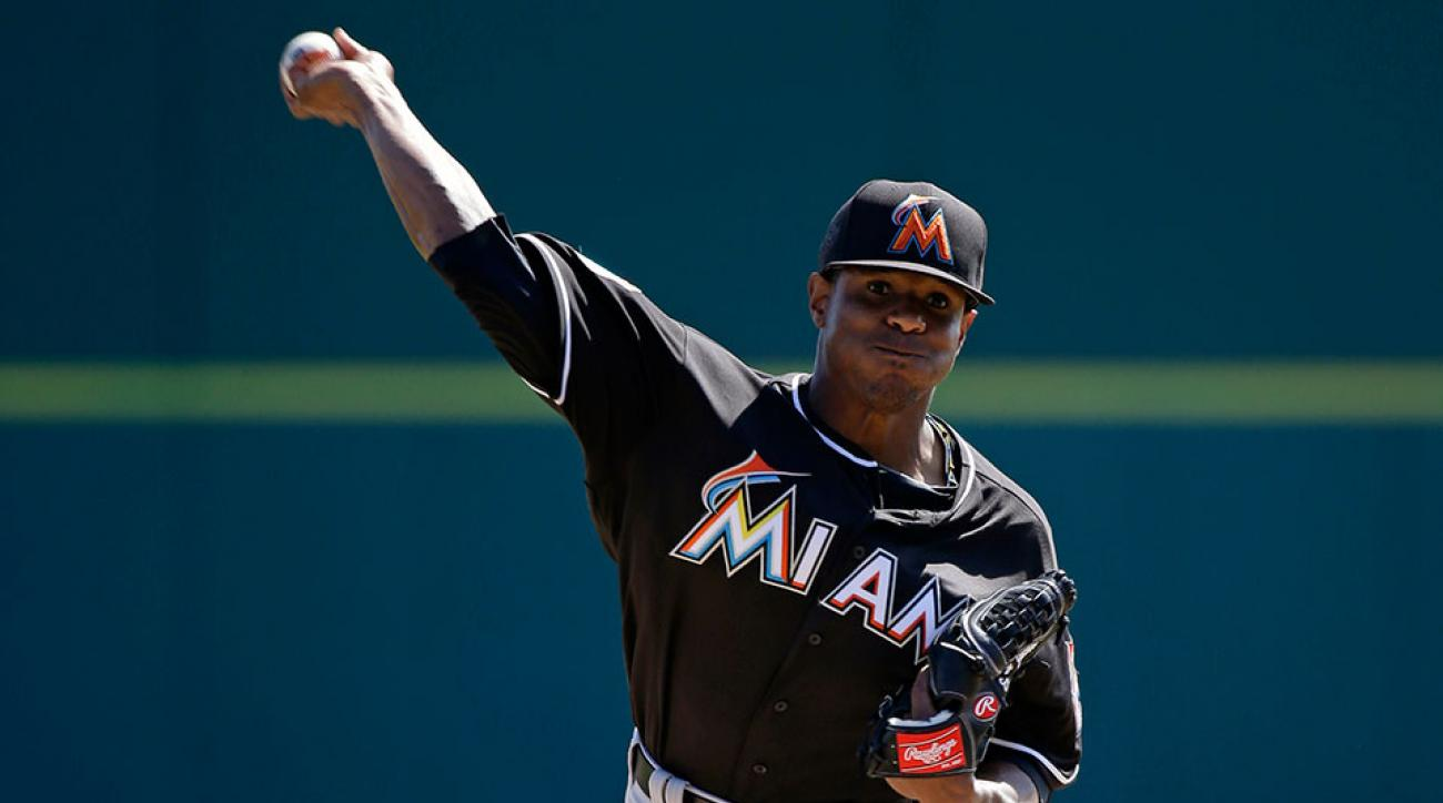 miami marlins edwin jackson tricep strain injury update