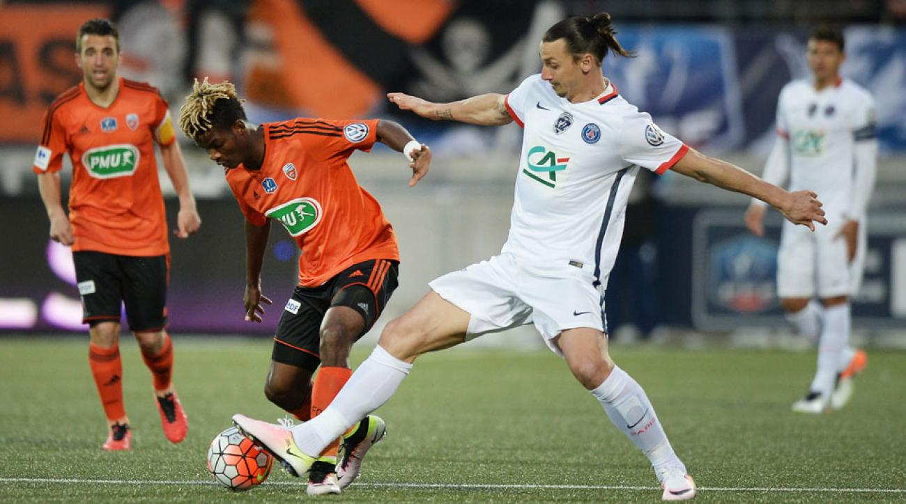 Zlatan Ibrahimovic lifts PSG over Lorient in the Coupe de France semifinals