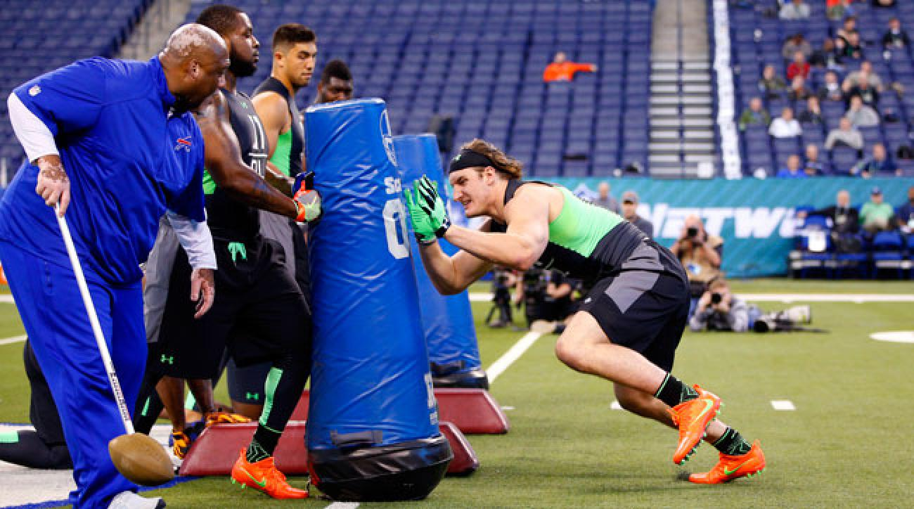 Joey Bosa at the 2016 NFL combine.