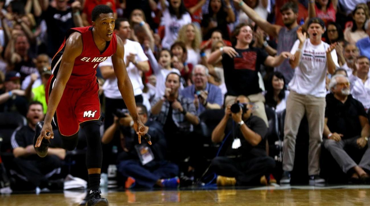 Miami Heat's Josh Richardson walked onto a TV set by accident