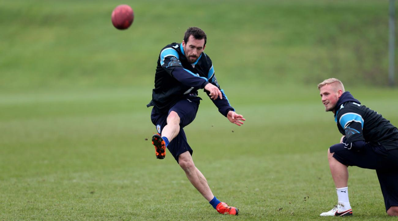 Leicester's Christian Fuchs wants to be a kicker in the NFL when he's done playing soccer