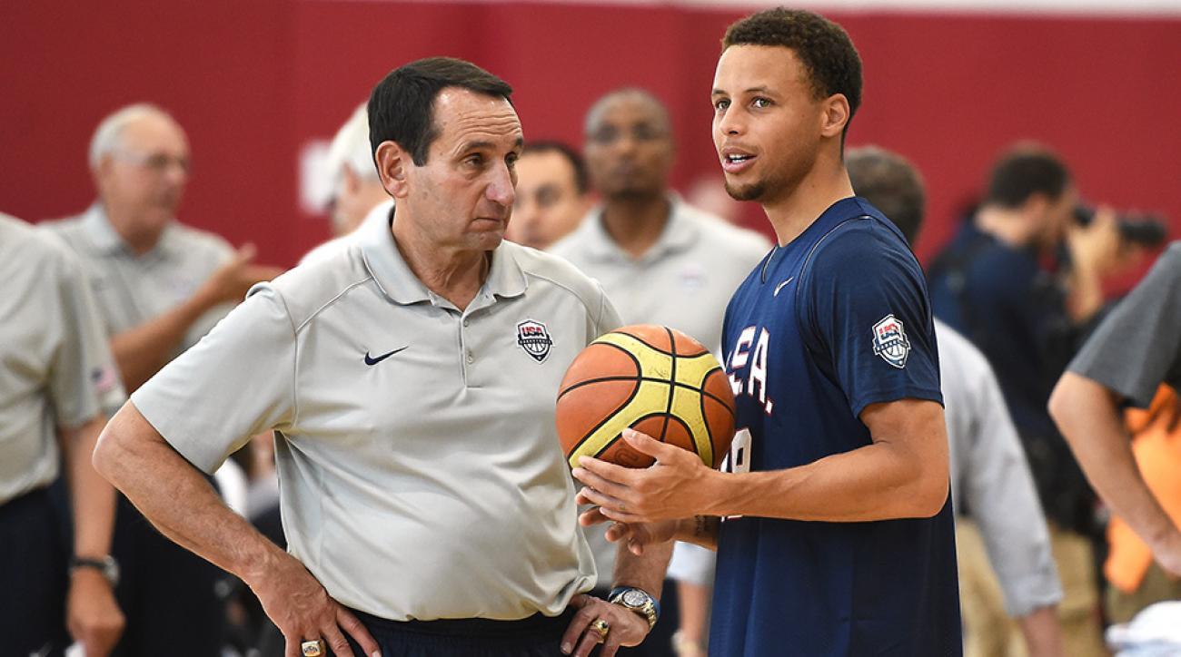 Coach K, Stephen Curry