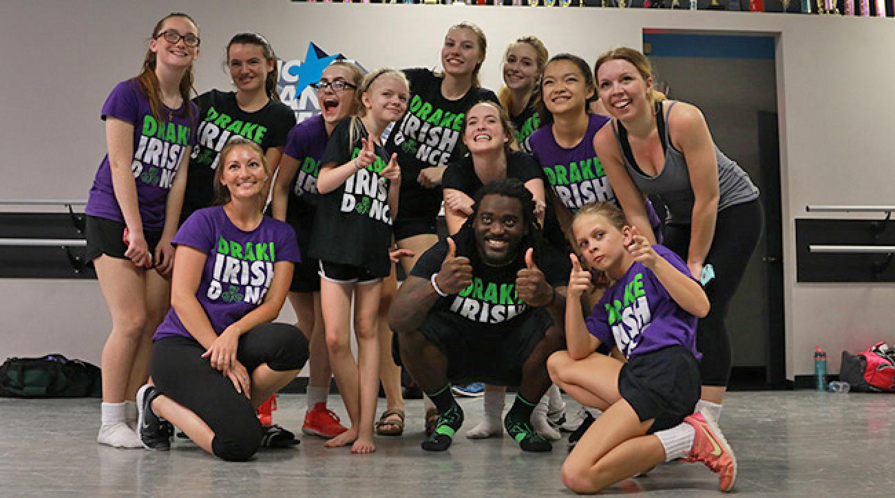 Collins and his Irish dance squad.