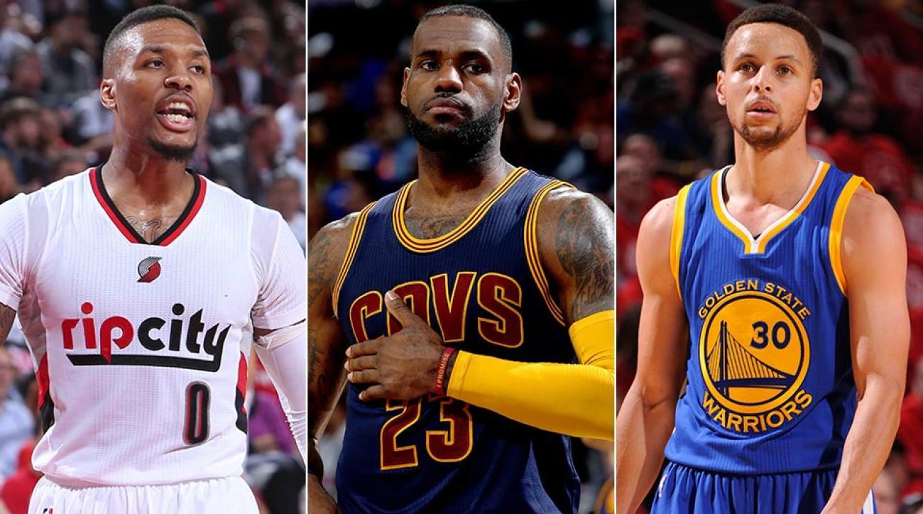Damian Lillard, LeBron James, Stephen Curry