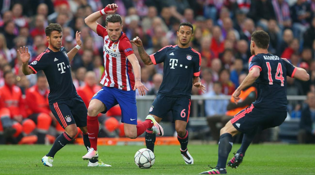 Saul opens the scoring in Atletico Madrid's Champions League semifinal vs. Bayern Munich