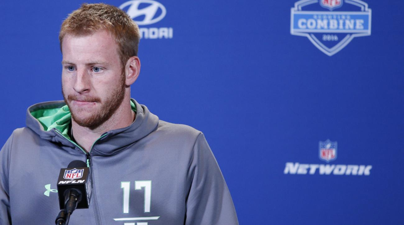 philadelphia eagles carzon wentz nfl draft contact
