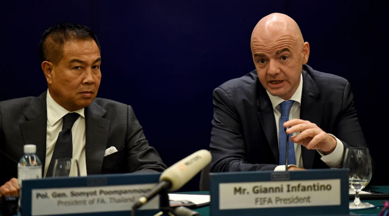 FIFA president Gianni Infantino visit Thailand