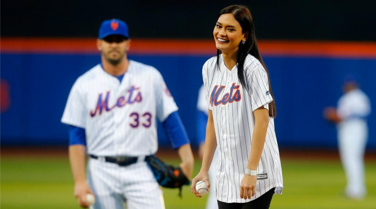 Mets' Noah Syndergaard teaches Miss Universe how to pitch