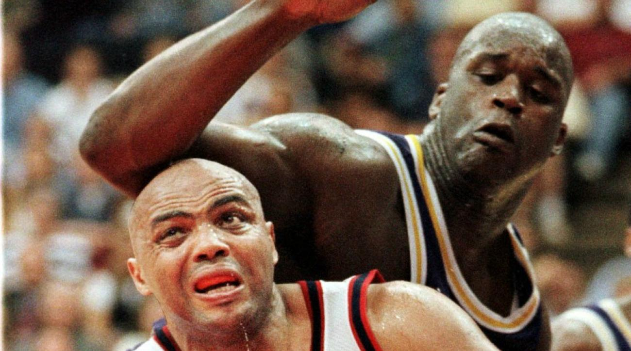 Shaq and Charles Barkley got in a wrestling match