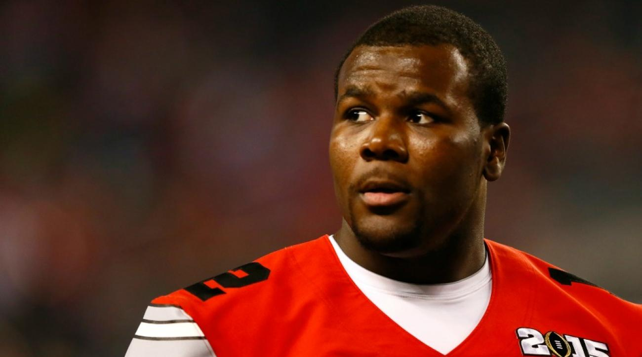 Cardale Jones ripped his shirt off when he got drafted