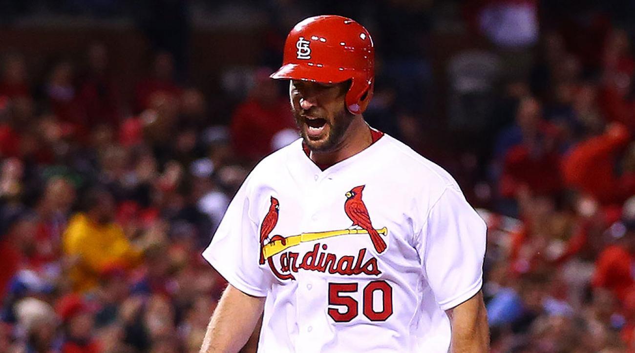 video st louis cardinals adam wainwright home run upper deck