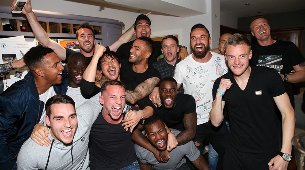 leicester city premier league title spurs chelsea vardy party