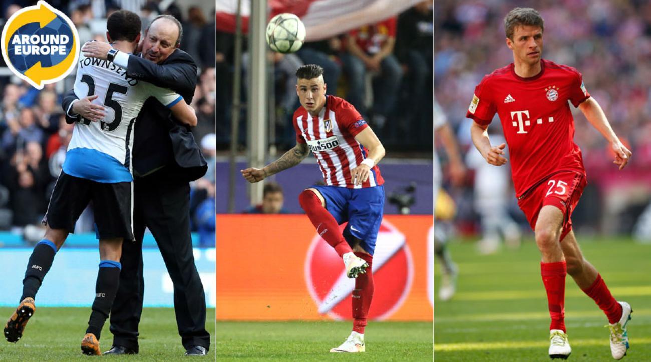 Newcastle, Atletico Madrid and Bayern Munich