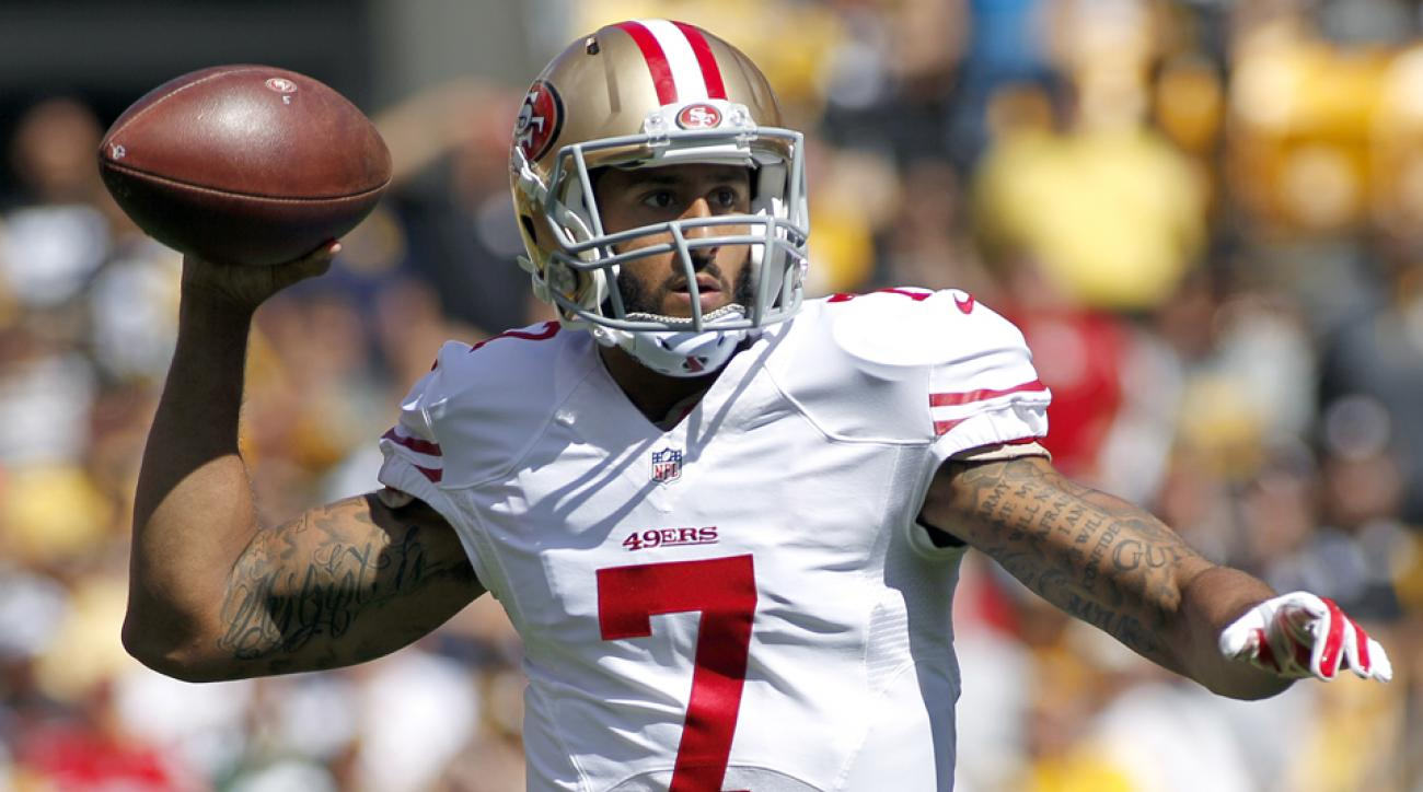 colin kaepernick san francisco 49ers injury surgery recovery throwing