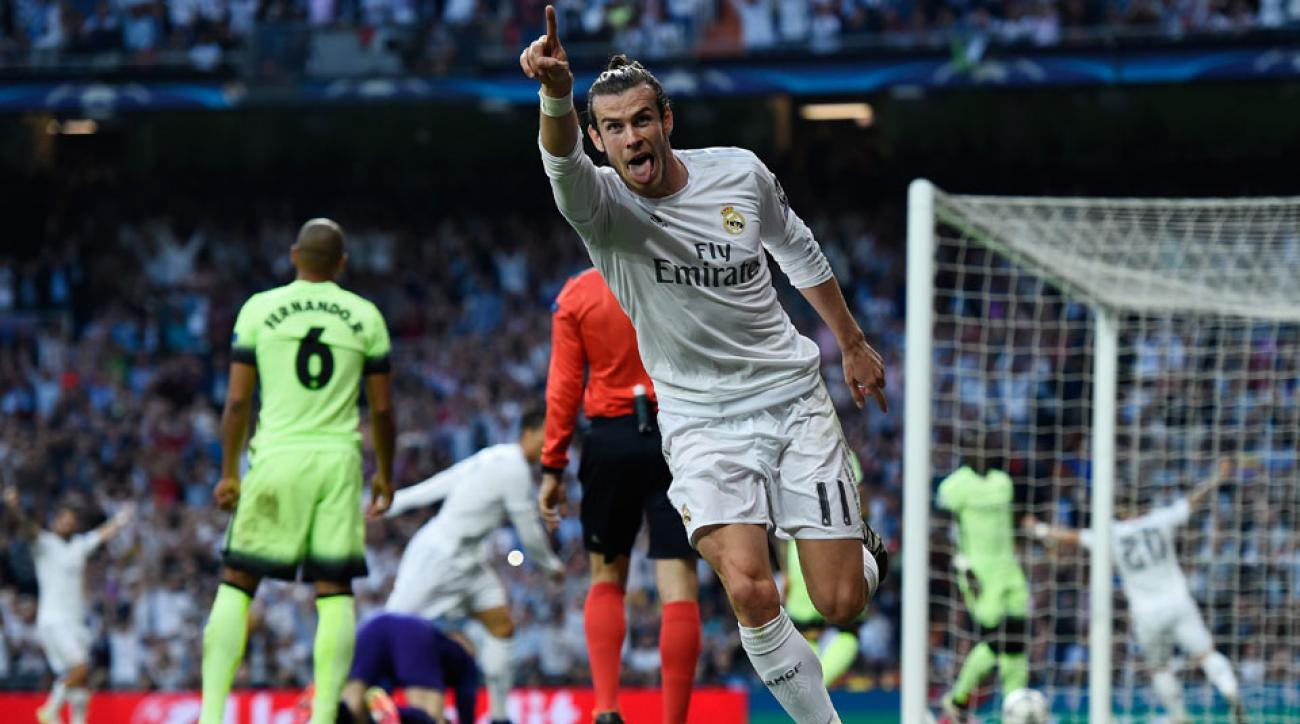 Gareth Bale forces an own goal that gives Real Madrid a lead vs. Manchester City