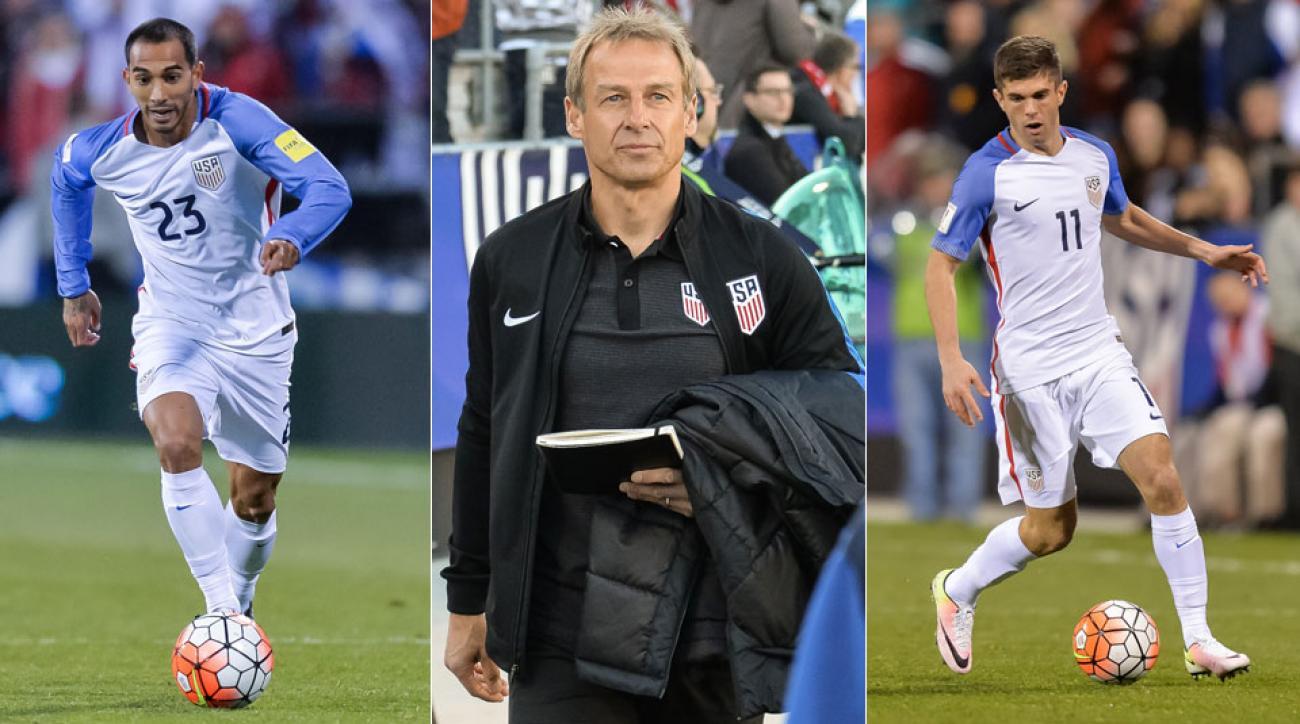 USMNT's Edgar Castillo, Jurgen Klinsmann and Christian Pulisic