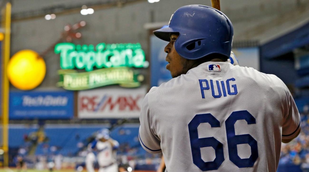 Dodgers' Adrian Gonzalez & Yasiel Puig went fishing