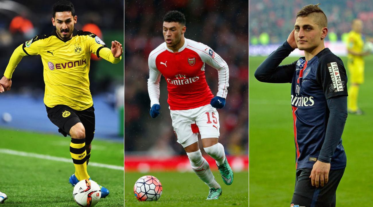 Ilkay Gundogan, Alex Oxlade-Chamberlain, Marco Verratti will all miss Euro 2016