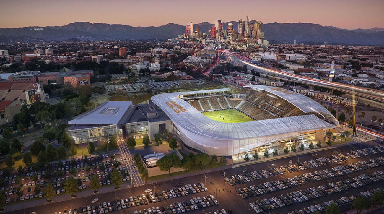 Renderings for LAFC's MLS stadium