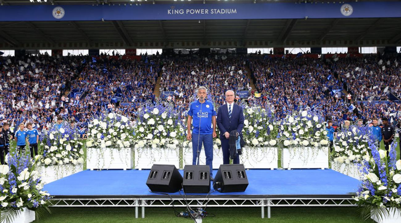 Andrea Bocelli sings at Leicester City's home finale
