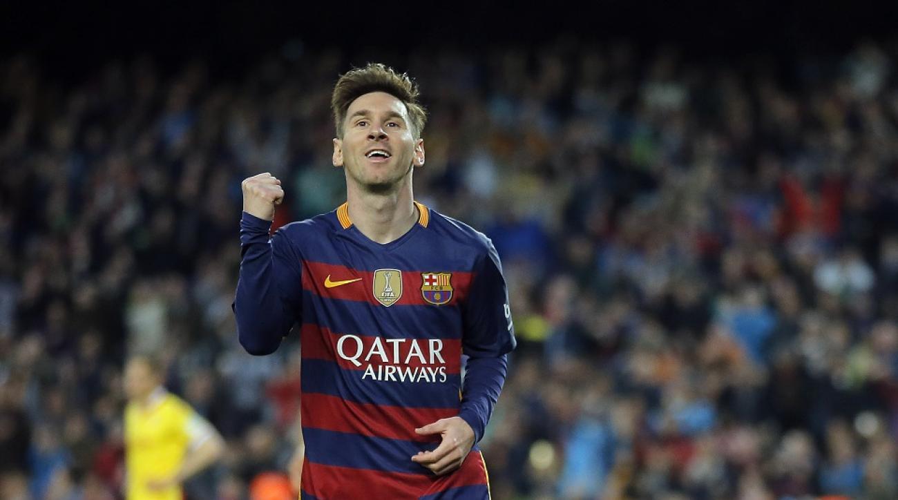 Video: Barcelona's Lionel Messi scores on free kick vs