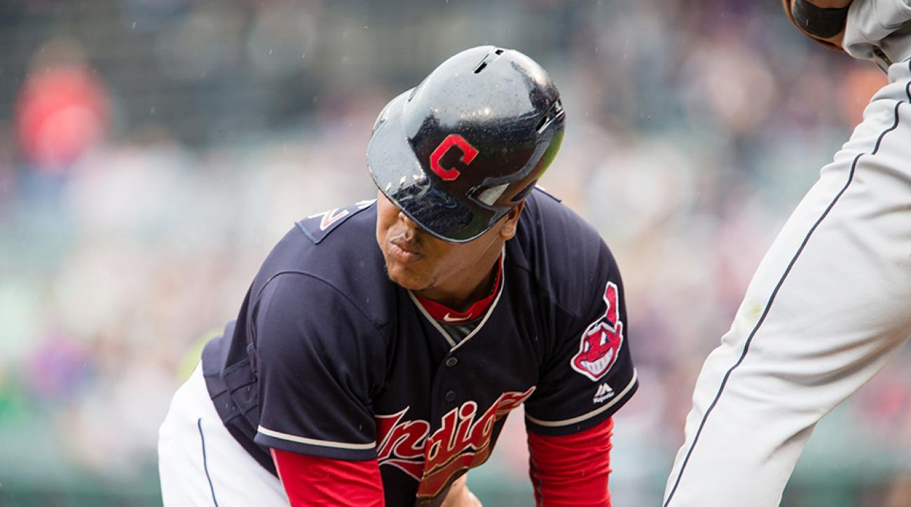 indians jose ramirez baseball helmet gif physics