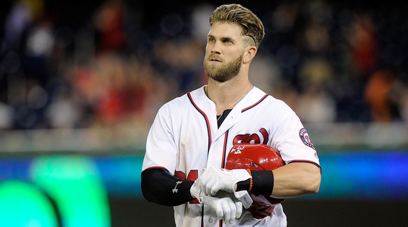nationals bryce harper ejected umpire curse video
