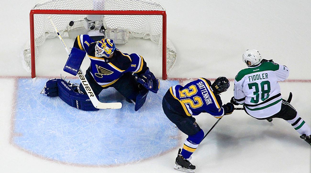 NHL Playoffs: Stars score three goals in first period vs. Blues