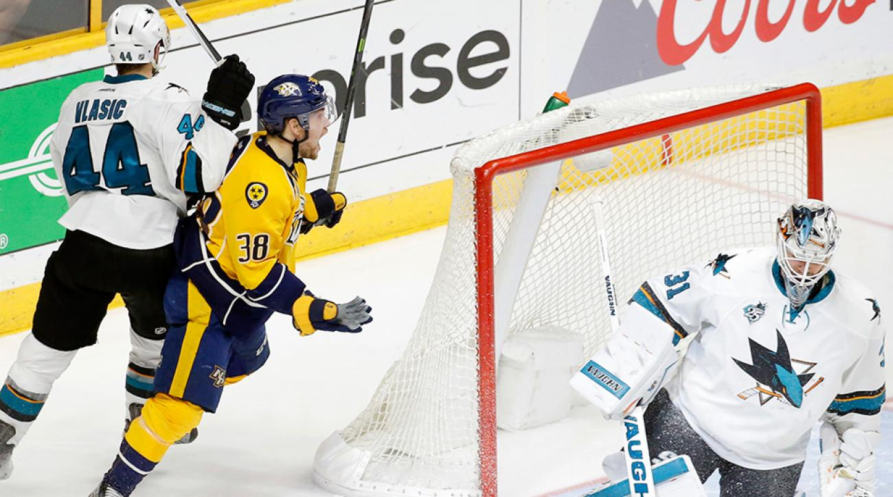 NHL Playoffs: Predators' Viktor Arvidsson scores OT winner vs. Sharks