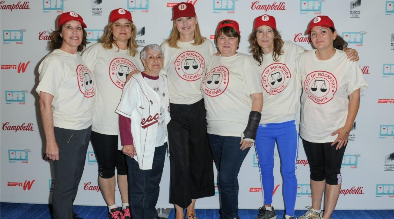 A League of Their Own reunion softball game