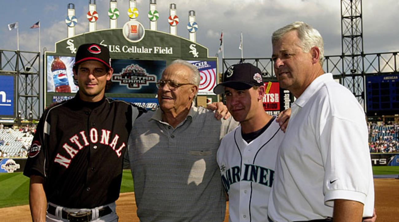 Aaron, Ray, Bret and Bob Boone, 2003 MLB All-Star Game