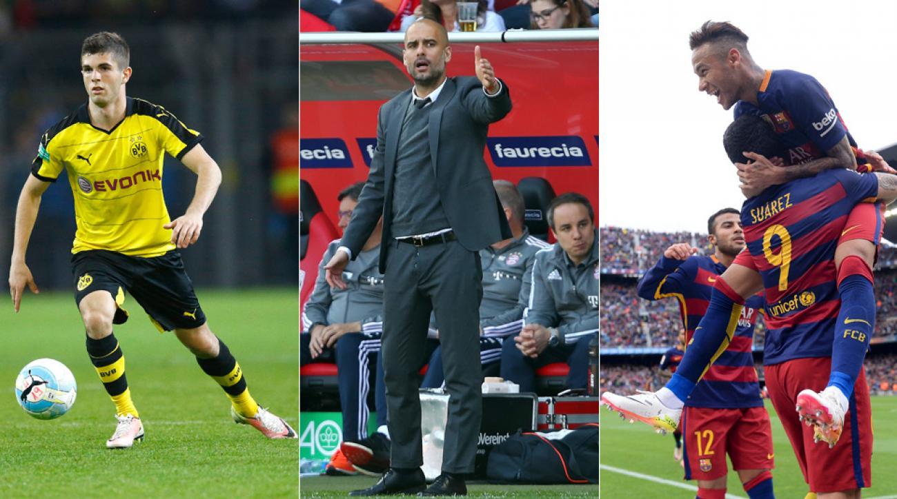 Christian Pulisic, Pep Guardiola and Neymar