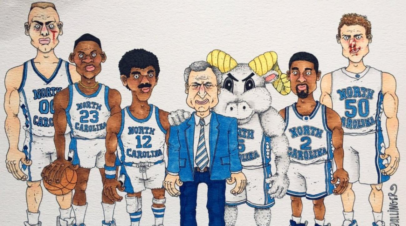 Former professional basketball player is making NBA cartoons on Twitter