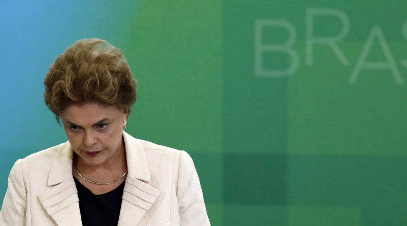 brazil president impeached rio olympics dilma rousseff