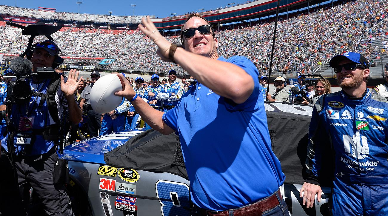 Peyton Manning has been busy in retirement, including a quick pitstop at a NASCAR race in Bristol last month.