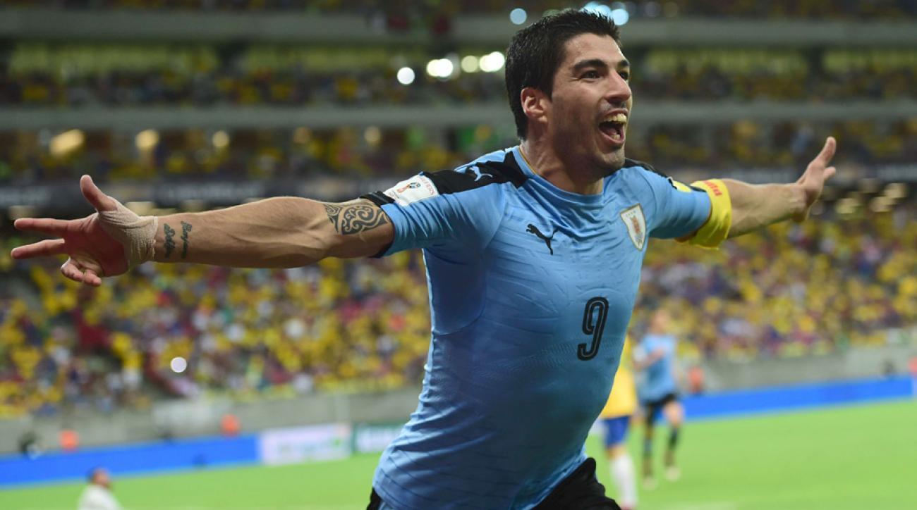 Luis Suarez leads Uruguay's roster at Copa America Centenario