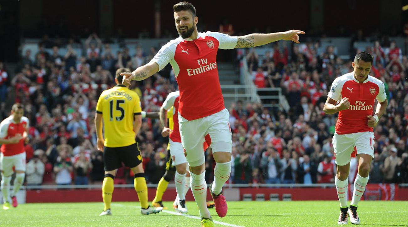 Olivier Giroud's hat trick lifted Arsenal in its season finale