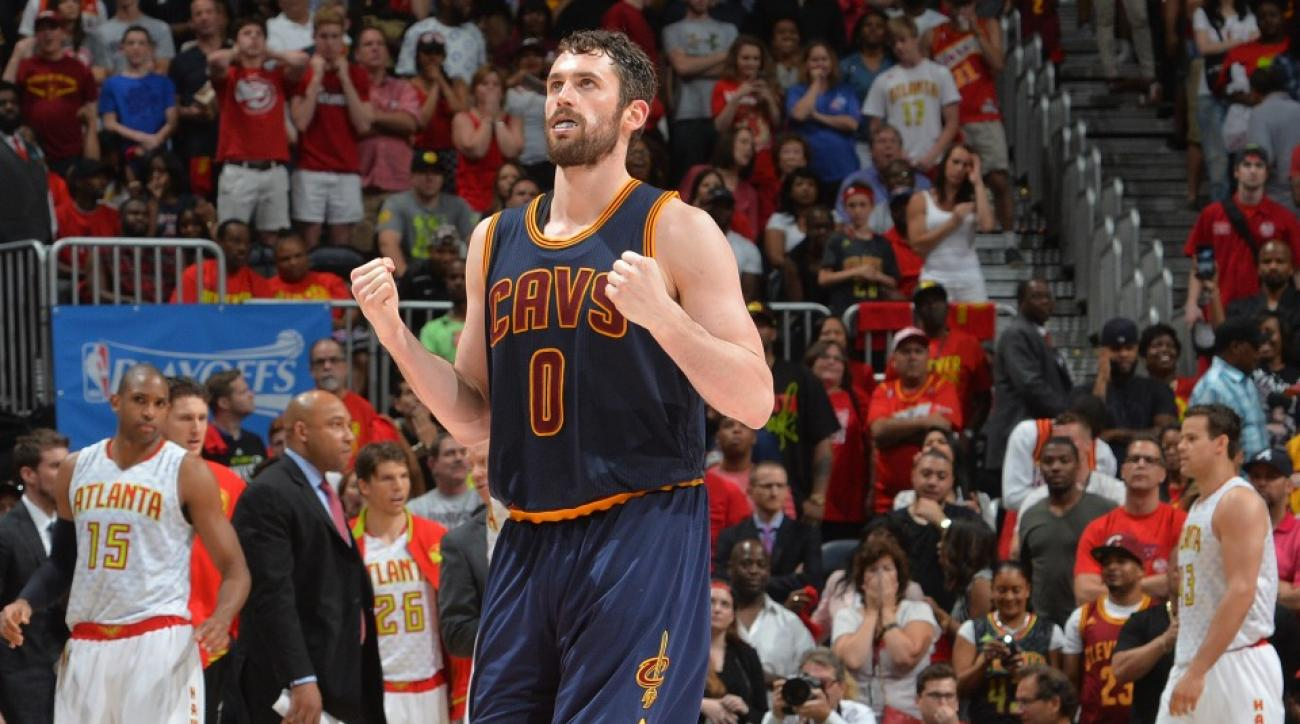 Lil Kevin Love is the new mascot of the Cavaliers locker room