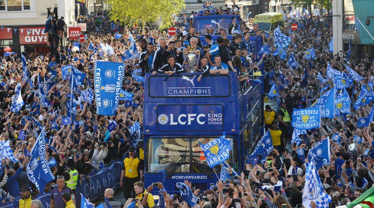 Nearly a quarter of a million turned out for Leicester's title parade
