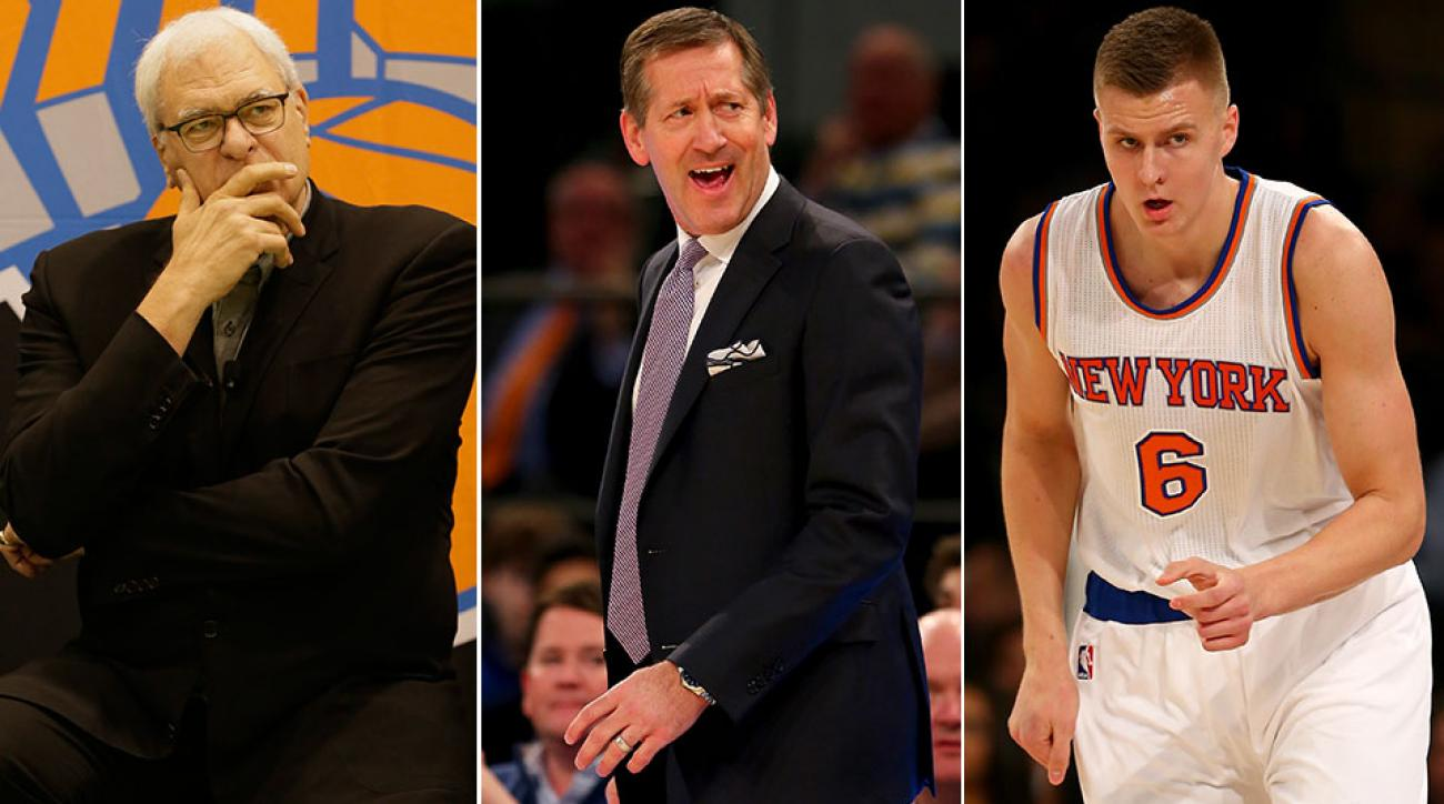 Phil Jackson and Jeff Hornacek and Kristaps Porzingis