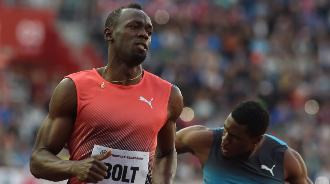 usain bolt wins ostrava video 100 meters