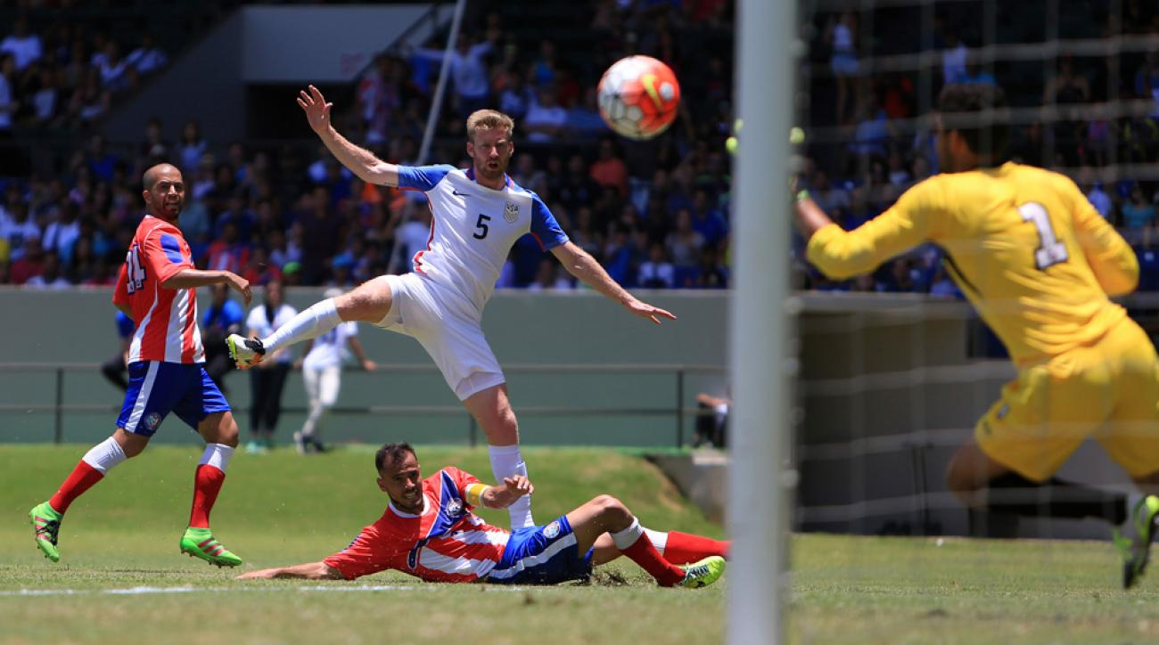 Tim Ream scores his first goal for the USA