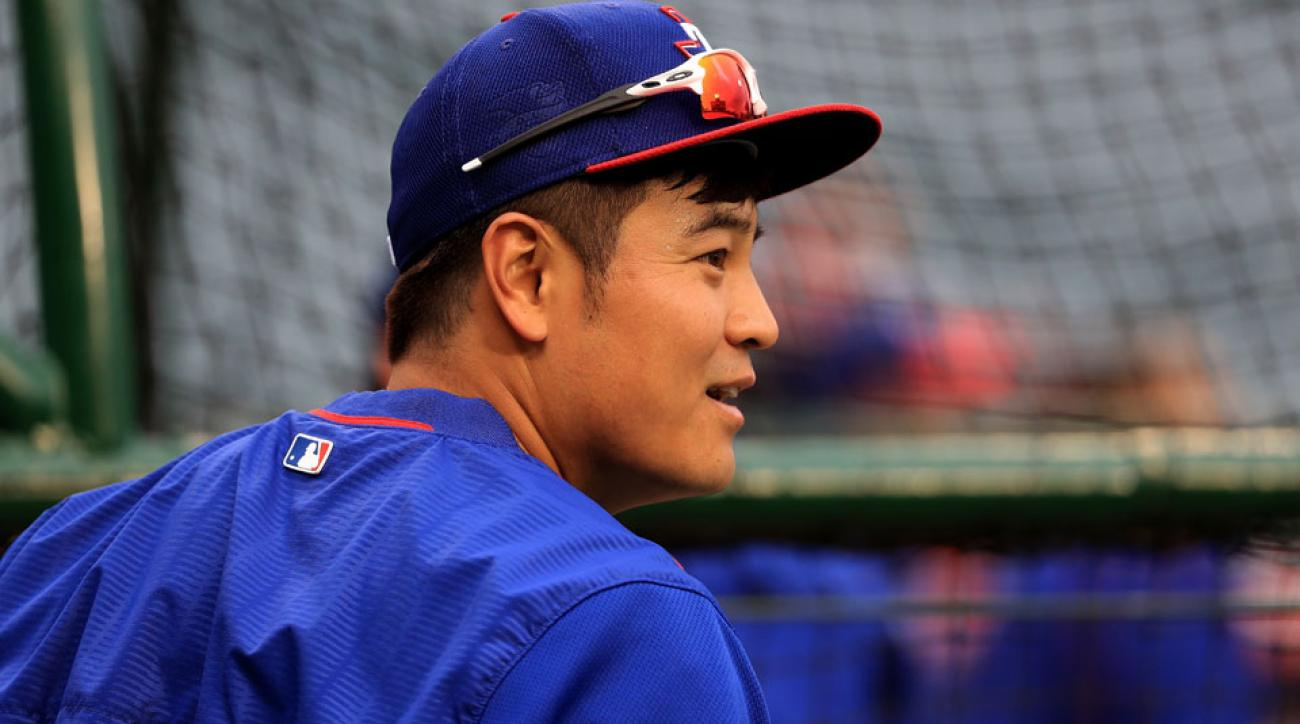 shin soo choo hamstring injury disabled list rangers
