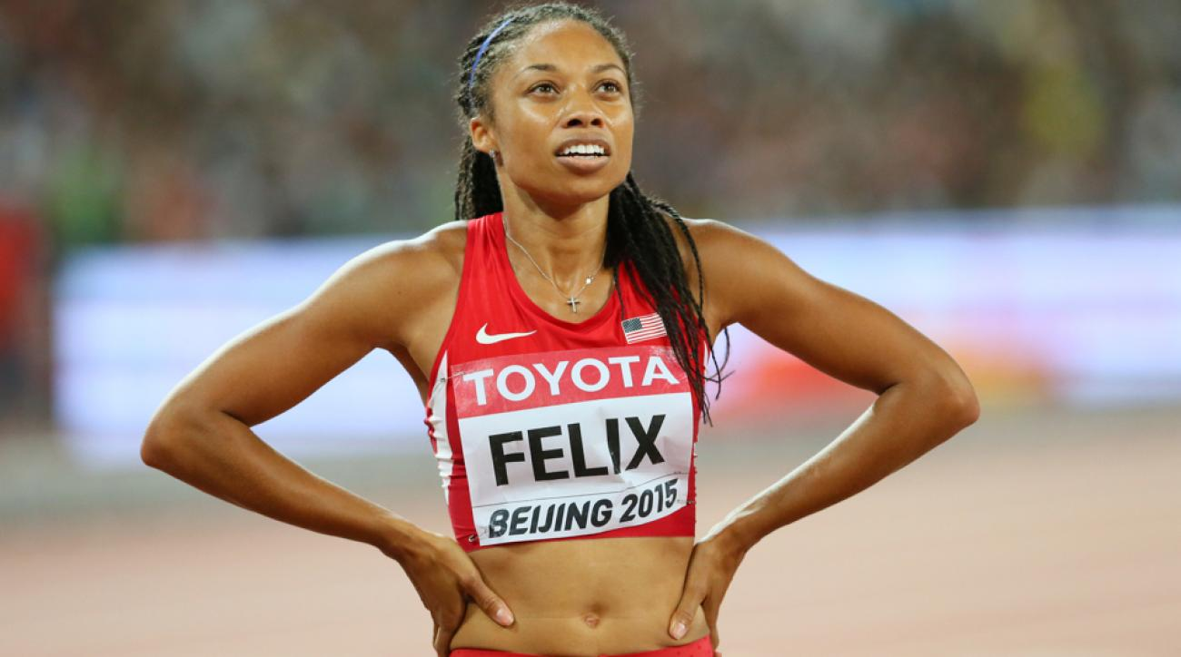 allyson felix ankle injury prefontaine classic withdrawal